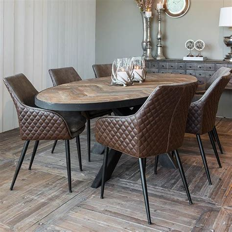 dining room table oval gingembre co reclaimed wood dining table