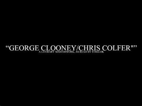 Glee Kink Meme - glee kink meme george clooney chris colfer by strelok