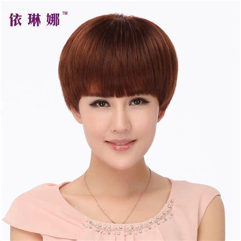 mushroom human hair wigs free shipping full hand woven human hair wigs female bobo