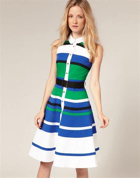 Dress With Stripe millen millen colourblock striped skirt