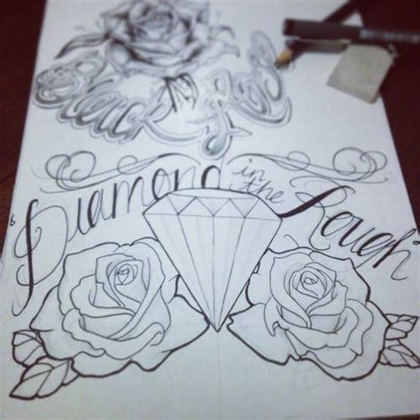 tattoo vorlage diamond diamond in the rough tattoo diamond roses tattoed