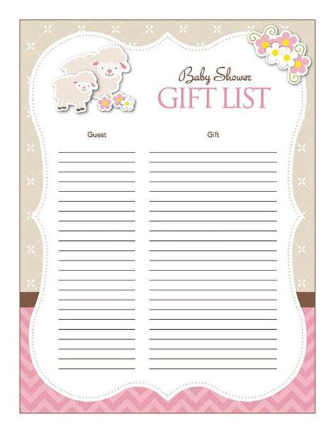 baby shower wish list template baby shower wish list template free template design