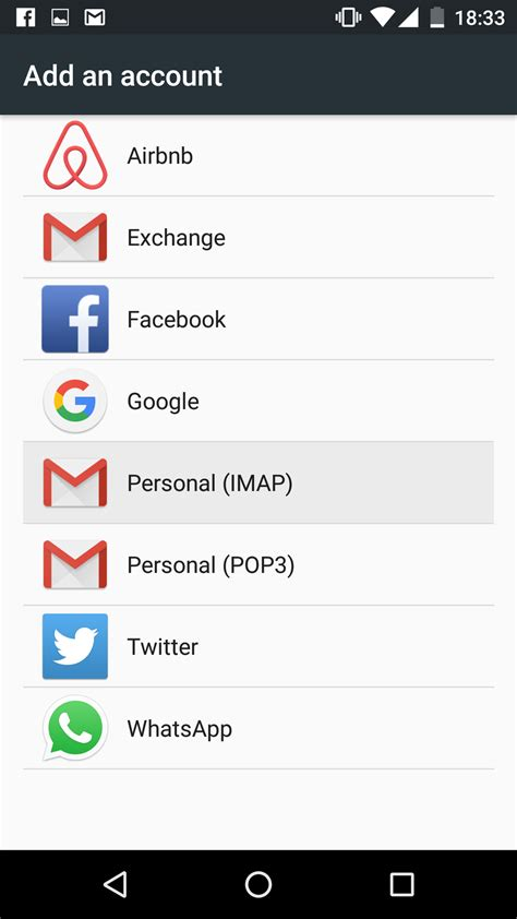 configure  email account  android  marshmallow