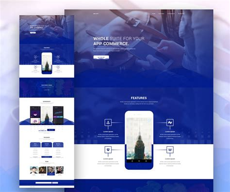 App Website Template by App Landing Page Website Template Psd