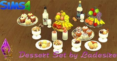 sims 4 food cc ladesire s creative corner ts4 dessert set by ladesire