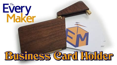How To Make A Wooden Business Card Holder