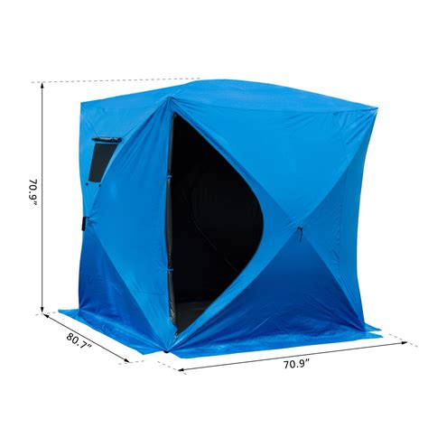 outsunny   person pop  ice shelter insulated ice