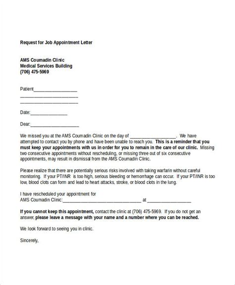 Patient Appointment Letter Template follow up doctor appointment letter 1 doctors excuse