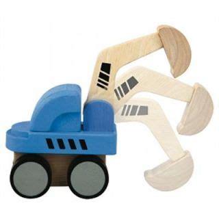 Plan Toys Mini Excavator Pt6316 2 wooden construction truck plans children s on