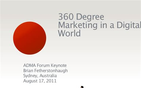 Digital Marketing Degree Florida 1 by 360 Degree Marketing In A Digital World