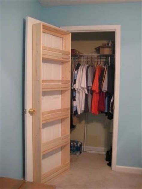 Homemade Shoe Rack Organizer Behind Closet Door For Closet Door Rack