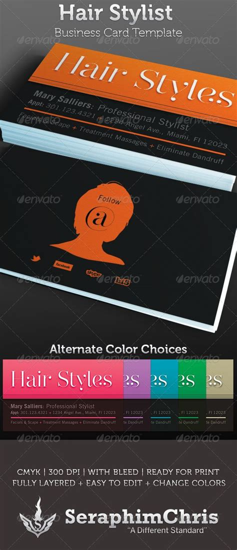 hair stylist business card template 17 best images about business cards on fonts