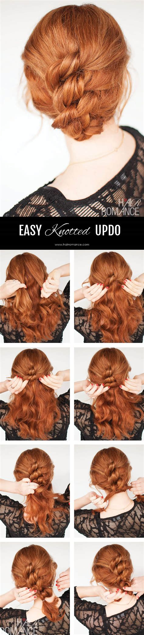 easy hairstyle tutorials for hair easy knotted hairstyle tutorial hair