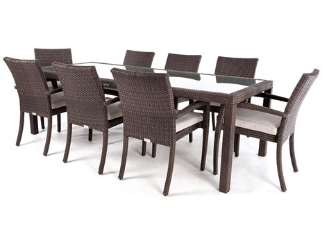10 place dining table ciro rectangular glass top 8 to 10 place outdoor dining