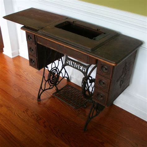 Singer Sewing Machine Desk by Vintage Singer Treadle Sewing Machine Table Reserved For