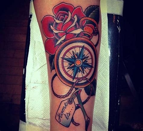compass tattoo new school 55 best tattoo traditional compass images on pinterest