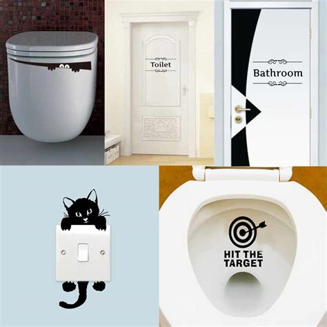 toilet wall stickers 1pcs toilet sticker bathroom wall stickers home decoration