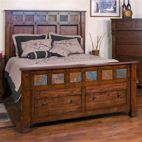 slate bed santa fe king storage bed with slate by sunny designs wolf furniture