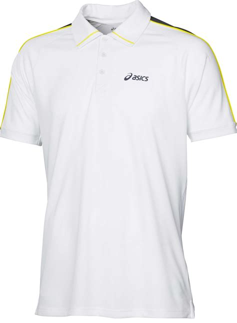 Polo Shirt Asisc asics mens polo white