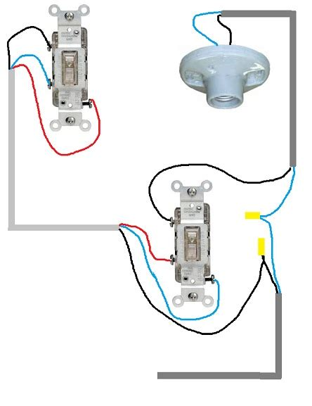 3 way switch powered switch in middle electrical