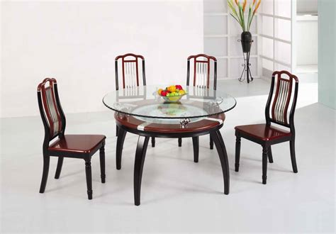 glass dining table set stylish dining table sets for dining room 187 inoutinterior