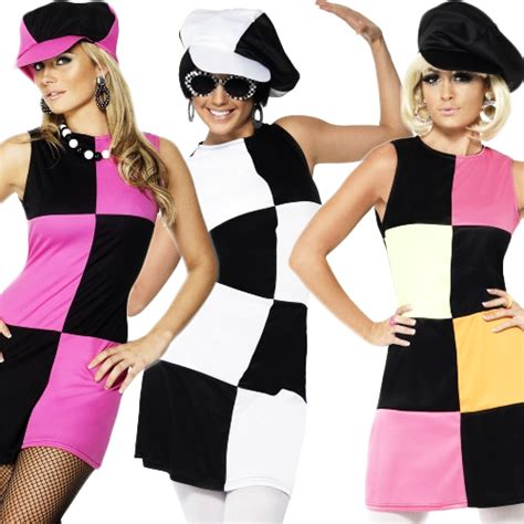 swing sixties swinging 60s 70s sixties ladies fancy dress costume outfit