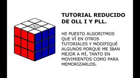 tutorial pll rubik tutorial rubik oll pll reducido youtube