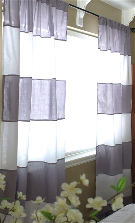 diy striped curtains diy striped curtains for 10 easy to make and super