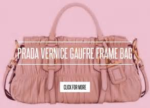 Prada Vernice Gaufre Frame Bag by Prada Vernice Gaufre Frame Bag Lifestyle