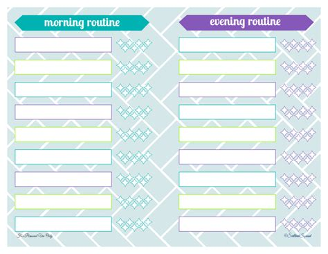printable weekly routine planner morning and evening routine scattered squirrel