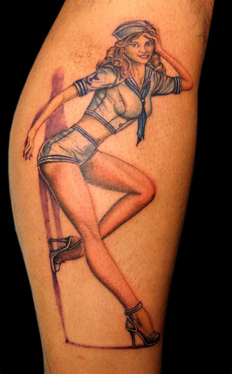 pin up tattoo sailor girl pin up by asussman on deviantart