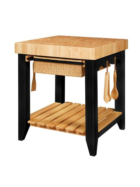 powell kitchen island powell color story black butcher block kitchen island 502
