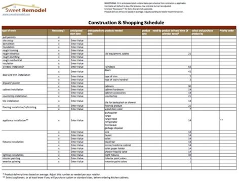 material delivery schedule template