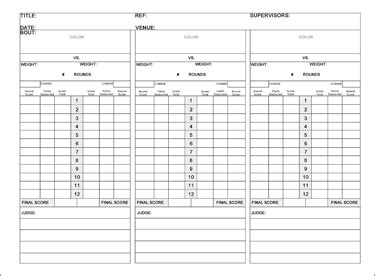 rounders score card template boxing scorecard related keywords suggestions boxing