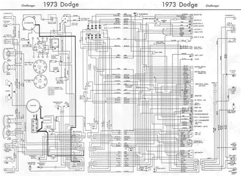 1974 dodge challenger wiring diagram fuse box and wiring