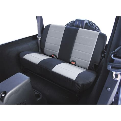 2006 Jeep Wrangler Seat Covers All Things Jeep Rear Seat Cover By Rugged Ridge For Jeep