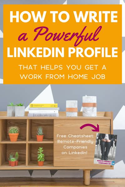 how to write a powerful linkedin profile to help you find