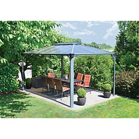 pavillon 3x4 festes dach gazebos canopies garden sheds greenhouses wickes co uk