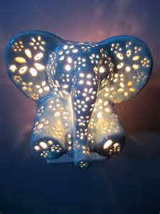 Toddler Bedroom Decorating Ideas ceramic elephant night light by lilyslights on etsy