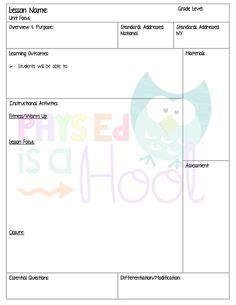 health education lesson plan template 1000 images about physical education theory on