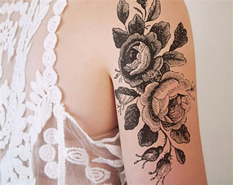 vintage rose tattoo designs 51 marvelous vintage shoulder flower tattoos