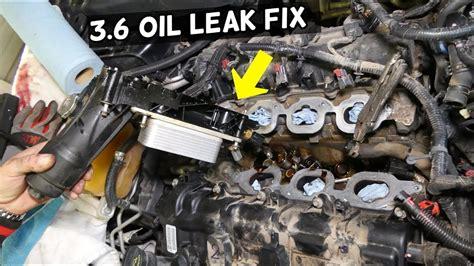 dodge chrysler jeep  pentastar oil cooler oil leak fix