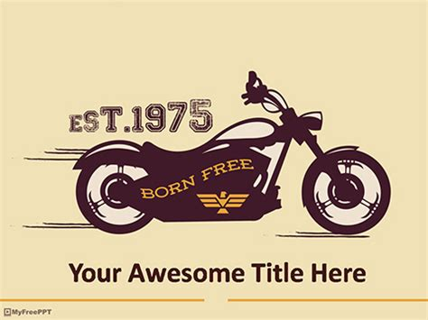 Free Motorcycle Powerpoint Template Download Free Powerpoint Ppt Motorcycle Powerpoint Template