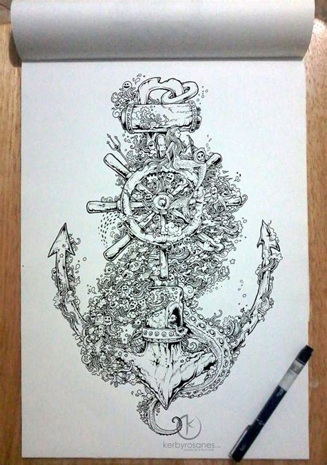 tattoo inspiration anchor illustration drawing inspiration gallery 312716 on wookmark