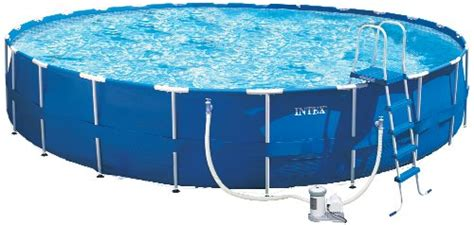 52 inches in feet intex 54949eg 24 foot by 52 inch metal frame pool set