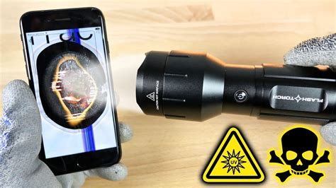 brightest light in the world worlds brightest flashlight vs iphone 7 youtube