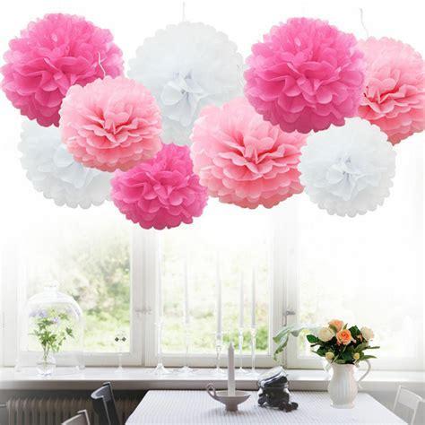 2pcs Tissue Paper Pom Poms Flower Ball Baby Shower
