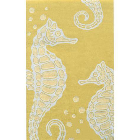 yellow white rug seahorse area rug yellow white