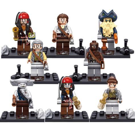 8 Pcs Mini Figure Set of the caribbean series 8 pcs set minifigures building toys new gift free shipping