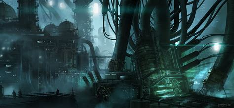 sci fi sci fi city s 2d digital concept